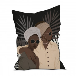 Pouf velours Femmes Africaines, 145 x 115 cm, collection African Tribe, Pôdevache