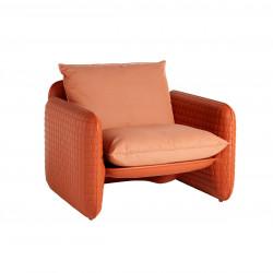 Fauteuil Mara, structure orange, Slide