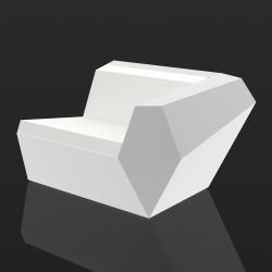 Module gauche de canapé Faz lumineux, Vondom, éclairage Led blanc, intérieur extérieur