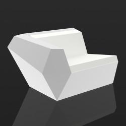 Module droit de canapé Faz lumineux, Vondom, éclairage Led blanc, intérieur extérieur