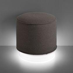 Pouf lumineux Led RGB Mara, coussin tissu terre de Sienne, Slide