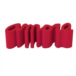 Banc Amore, Slide Design rouge Mat
