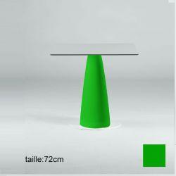 Mange-debout carré Hoplà, Slide vert 79x79xH110 cm