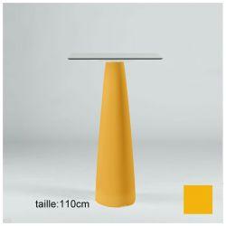 Mange-debout carré Hoplà, Slide orange 79x79xH110 cm