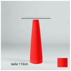 Mange-debout carré Hoplà, Slide rouge 79x79xH110 cm