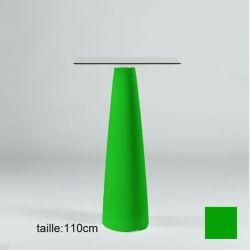 Mange-debout carré Hoplà, Slide vert 69x69xH110 cm