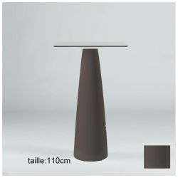Mange-debout carré Hoplà, Slide chocolat 69x69xH110 cm
