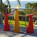 Mange-debout carré Hoplà, Slide orange 69x69xH110 cm