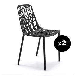 Lot de 2 chaises design Forest, Fast noir