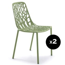 Lot de 2 chaises design Forest, Fast thé vert