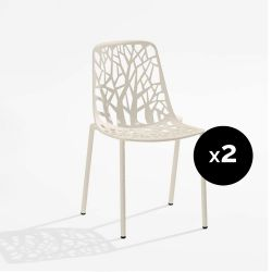 Lot de 2 chaises design Forest, Fast blanc