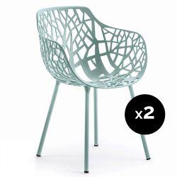 Lot de 2 fauteuils design Forest, Fast bleu pastel