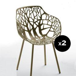 Lot de 2 fauteuils design Forest, Fast or perlé