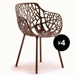Lot de 4 fauteuils design Forest, Fast Maracuja