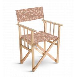 Chaise metteur en scène Visages fond terre de sienne, collection Terra nova, Pôdevache