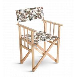Chaise metteur en scène Fleurs et oiseaux, collection Orient extrême, Pôdevache