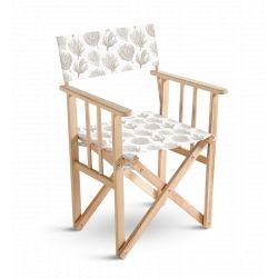Chaise metteur en scène Mosaïque brune, collection Orient extrême, Pôdevache
