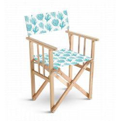 Chaise metteur en scène Mosaïque Bleu turquoise, collection On dirait le sud, Pôdevache