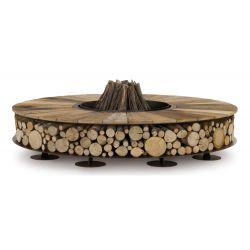 Braséro Zéro diamètre 150 cm, Ak47 Design, finition bois