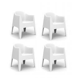 Set de 4 Fauteuils Solid, Vondom blanc