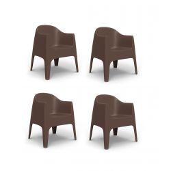 Set de 4 Fauteuils Solid, Vondom bronze