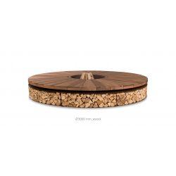 Braséro Artu diamètre 300cm, Ak47 Design, finition marbre brun