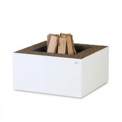 Braséro Dado diamètre 80cm, Ak47 Design, finition marbre blanc