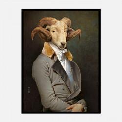 Bel Ami, portrait série limitée, Ibride, Taille M, L74 x H56 x P4 cm