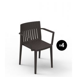 Lot de 4 chaises Spritz, Vondom bronze Avec accoudoirs