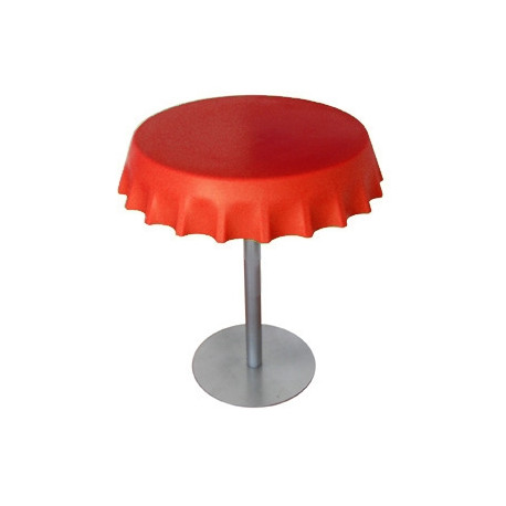Fizzz, table medium ronde design diamètre 70 cm, Slide Design rouge