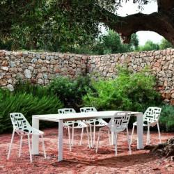 Table Grande Arche avec rallonges, Fast blanc Longueur 220/270 cm