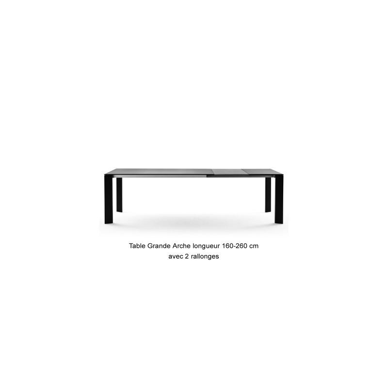 table grande arche avec rallonges fast blanc longueur 220 270 cm cerise sur la deco. Black Bedroom Furniture Sets. Home Design Ideas