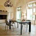 Table Grande Arche avec 1 rallonge, Fast noir Longueur 220/270 cm