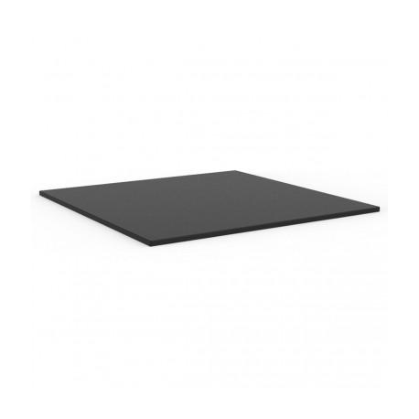 Plateau de table Faz, Vondom noir,bordure noir Carré, 59x59 cm