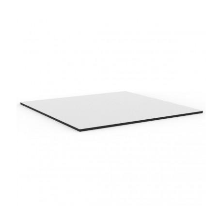 Plateau de table Faz, Vondom blanc,bordure noir Diamètre 69 cm