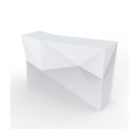 Banque d'accueil Origami, élément droit, Proselec blanc Mat