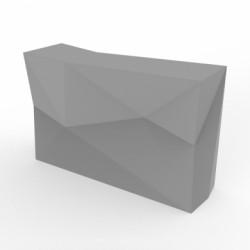 Banque d'accueil Origami, élément droit, Proselec acier Mat