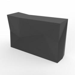 Banque d'accueil Origami, élément droit, Proselec anthracite Mat