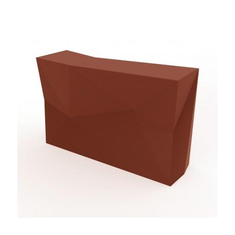 Banque d'accueil Origami, élément droit, Proselec bronze Laqué