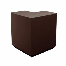 Banque d\'accueil Line, élément d\'angle, Proselec bronze Mat