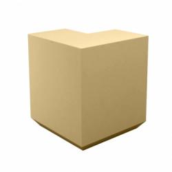 Banque d\'accueil Line, élément d\'angle, Proselec beige Mat