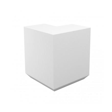 Banque d'accueil Line, élément d'angle, Proselec blanc Laqué