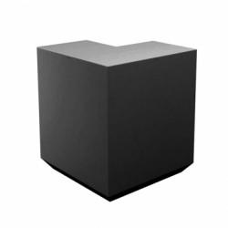 Banque d\'accueil Line, élément d\'angle, Proselec noir Laqué