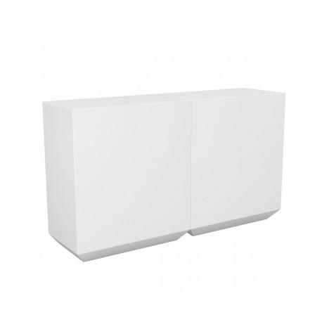 Banque d'accueil Line, élément droit 2m, Proselec blanc Mat