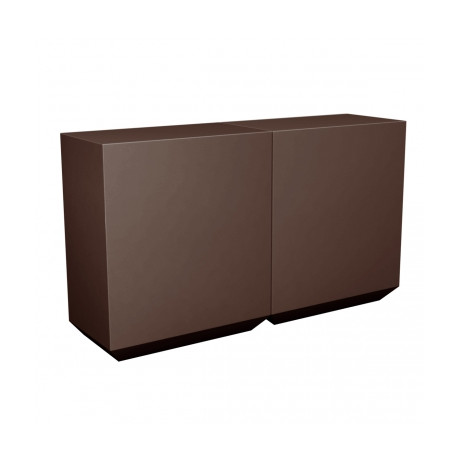 Banque d'accueil Line, élément droit 2m, Proselec bronze Mat
