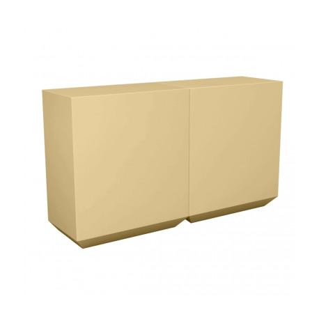 Banque d'accueil Line, élément droit 2m, Proselec beige Laqué