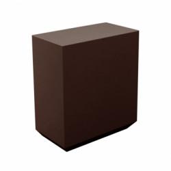 Banque d\'accueil Line, élément droit 1m, Proselec bronze Mat