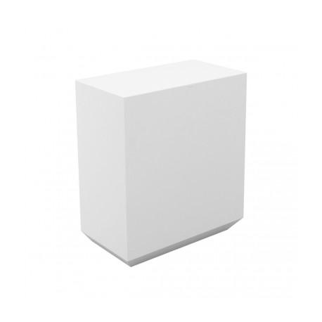 Banque d'accueil Line, élément droit 1m, Proselec blanc Laqué
