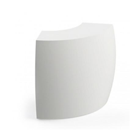 Banque d'accueil Polar, élément d'angle, Proselec blanc