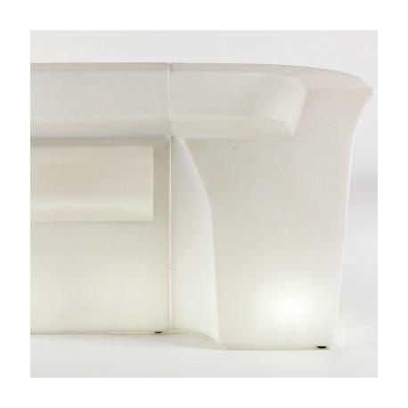 Banque d'accueil Power, élément d'angle, Proselec blanc